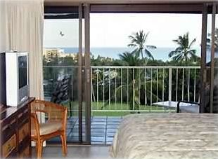 Sweeping ocean view from spacious master bedroom.
