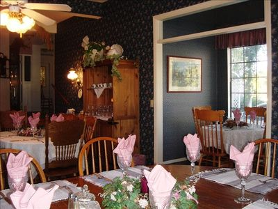 Spacious Country Dining Room Seats up to 30!.