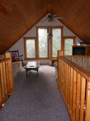 Jay Peak cabin photo - Bright sunny open loft - w/direct tv/dvd/vcr