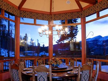 Camelot - Dining Room surrounded by beautiful views!