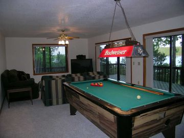 Pool Table in Family Room. Awesome View of lake in every direction!