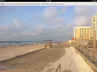 North Padre Island condo photo - Take a stroll on the 1 mile seawall which starts 1 block from condo.