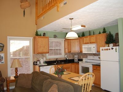 Fully Equipped Kitchen is open to living area