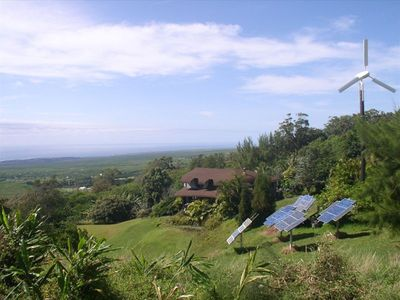 Panoramic view of coast from Hobbit House
