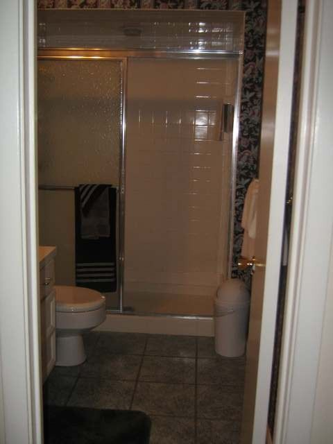Guest bathroom downstairs with Walk-in shower