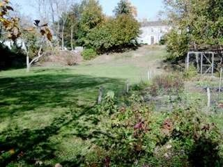 Wellfleet farmhouse photo - View from the lower field, vegetable garden