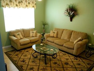 Cape Coral house photo - Family Room with queen sofa sleeper.