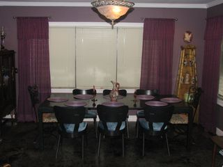 Alburg estate photo - Dining room/sitting room. 1 of 2 Dining tables. Room can accomodate 16.