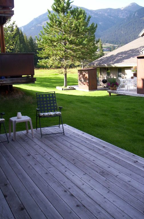 Rear Deck {Overlooking Golf Course and Mountains}