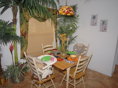 Breakfast Nook with High Chairs