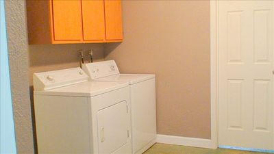 Laundry Room: full size washer and dryer