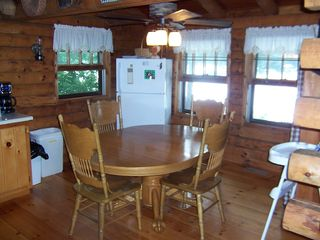 Lake Hortonia cabin photo - Kitchen Nook overlooking 550 acre Lake Hortonia. 12 table chairs