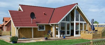 Original Danish holiday home with sauna and beach chair, on the Baltic coast