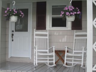 Lunenburg house photo - Front porch overlooking Martin Cove