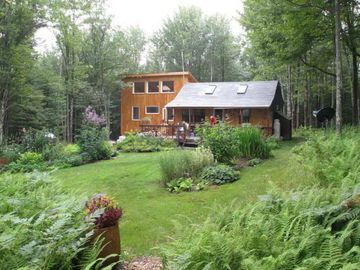 Claryville cabin rental - Beautiful Gardens and Cabin sited on Wildcat Mt's Fern Forest
