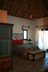 Todos Santos house photo - The master suite with ocean view. Designed with Handmade Mexican Crafts