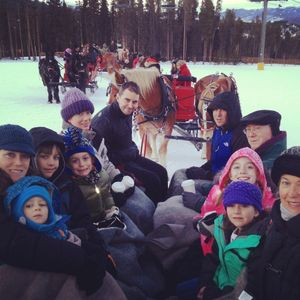 Horse-drawn sleigh-ride (hot-cocoa included!) on the ski mountain