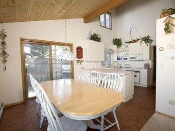 Modern Kitchen with Lake Views - seating for eight. Well-equipped kitchen