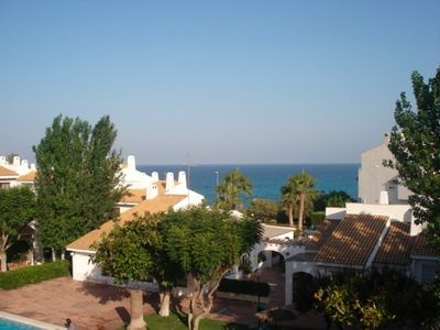 El Campello bungalow rental - views of the Mediterranean sea from both balconies