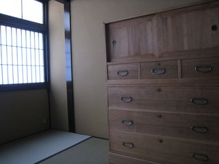 Kyoto townhome photo - Antique dresser in Den - 1st floor