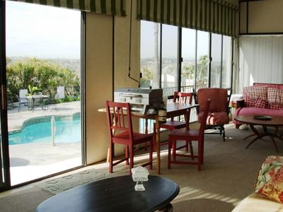 La Costa townhome rental - SUNROOM W/POOL VIEW. HAS SOFA AND FOUTON BED