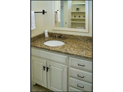 Rosemary Beach cottage rental - Bathroom with storage, hair dryer, washer/dryer