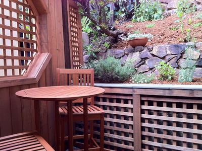 outdoor furnishings in Private Backyard