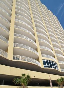 Gulf front view of condo, reason why these are the best balconies on the beach