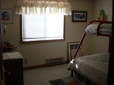 #3 Bedroom with full/twin bunk. Mountain view from window.