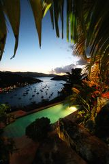 Tortola villa photo - View from upper patio at night..my favorite time!