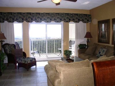 Living Area with beautiful Topsail Nature Preserve and Coastal View