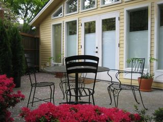 Seattle cottage photo - Private patio & garden with French doors
