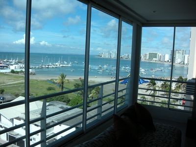 View from living area, sliding windows open to give you balcony feel