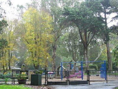 One of the children's playgrounds in the beginning of Golden Gate Park is not to
