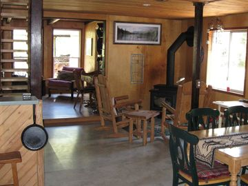 Enjoy our comfortable rustic cabin.
