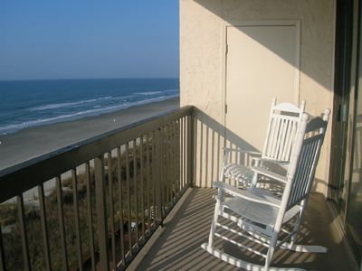Large Balcony with Rocking Chairs