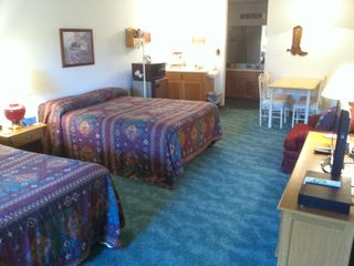 King/Queen Western Suite with Full Bath, small fridge, microwave,coffee pot