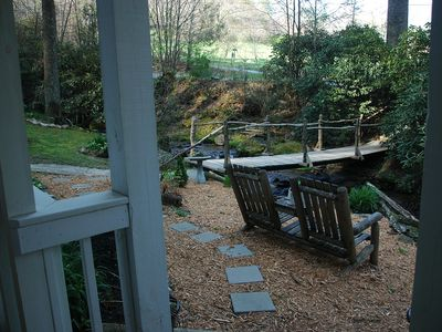 Maggie Valley lodge rental - Yet another spot to relax and let the tumbling stream work its magic