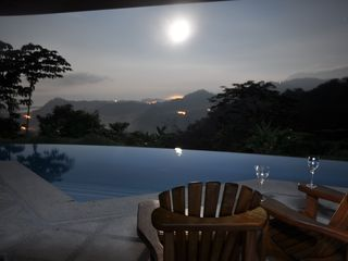 Ojochal villa photo - Moonlight vista of the Pacific and the Tres Rios Valley