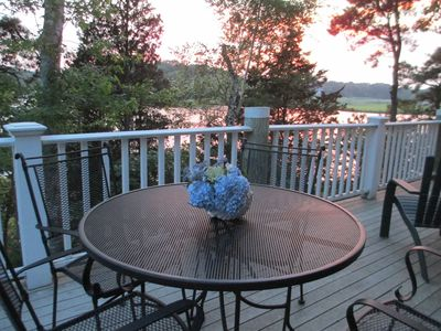 Enjoy outdoor dining with full sunset views