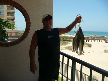 Lunch today from surf fishing out our backdoor - whiting are great