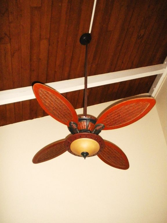 Decorative ceiling fan in master bedroom- We have 3 of these fans in the unit.