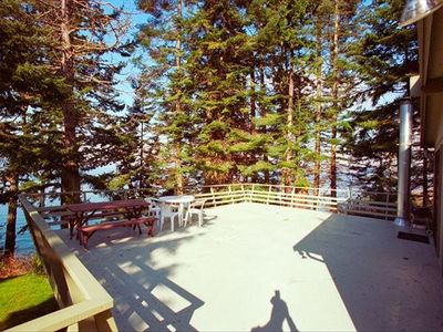 Second Floor Deck with View of Olympic Mountains
