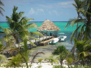 Ambergris Caye house photo - Palapa and dock from house