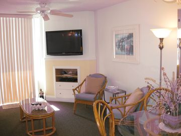 Windy Hill condo rental - Living Area with new TV