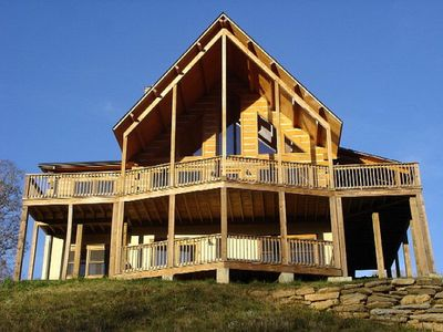 Starry nights lodge gorgeous views large vrbo for Boone ski cabin rentals