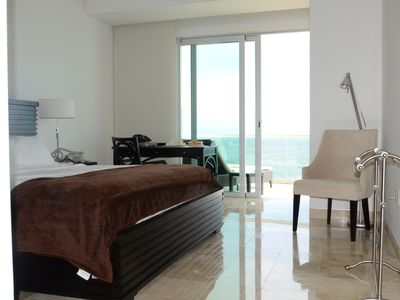 Master bedroom with walk out to the terrace ( doors slide fully back)