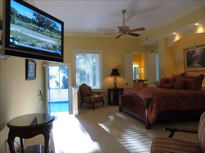 Forest Beach house rental - Master Bedroom, 1 of 7 bedrooms all with bath, lrg closets, fans, flat screen TV