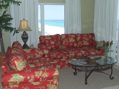 Living Room with a Gulf View