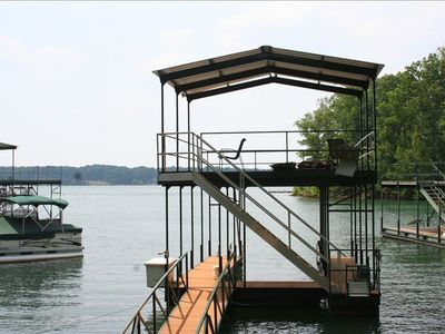 Double Decker Dock~ Boat slip on lower level,  Hang out on upper level!